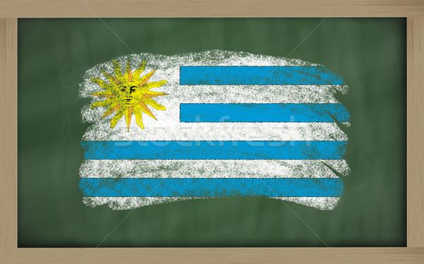 Bandeira Uruguai lousa pintado giz cor Foto stock © vepar5