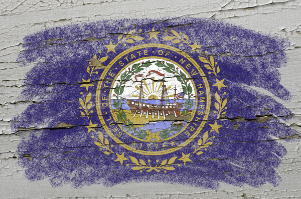 Vlag New Hampshire grunge houten textuur amerikaanse Stockfoto © vepar5