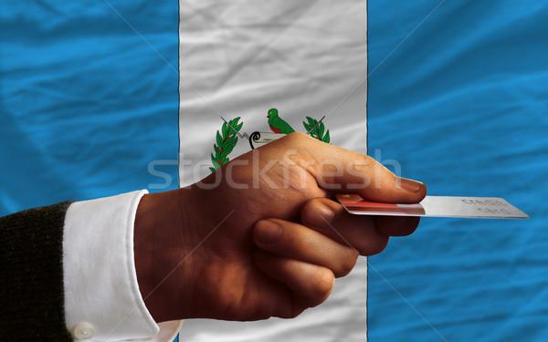 Compra cartão de crédito Guatemala homem fora Foto stock © vepar5
