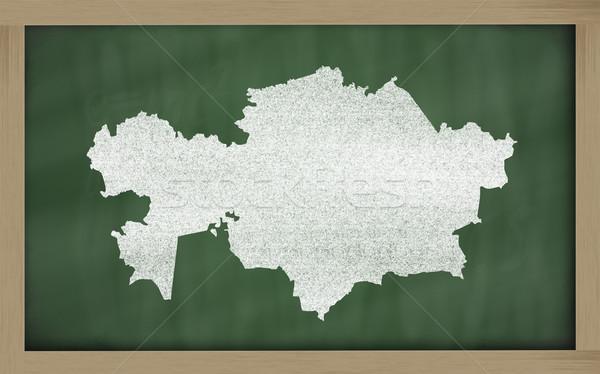 Skicc térkép Kazahsztán iskolatábla rajz rajzolt Stock fotó © vepar5