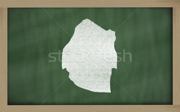 Schets kaart Swaziland Blackboard tekening Stockfoto © vepar5