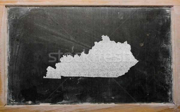 outline map of us state of kentucky on blackboard  Stock photo © vepar5