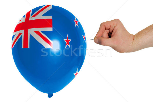 Bursting balloon colored in  national flag of new zealand    Stock photo © vepar5