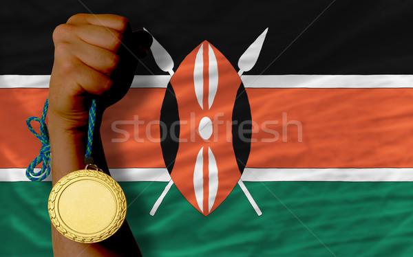 金メダル スポーツ フラグ ケニア 勝者 ストックフォト © vepar5