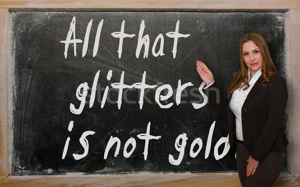 Professor não ouro lousa Foto stock © vepar5