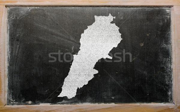 地図 レバノン 黒板 図面 ストックフォト © vepar5