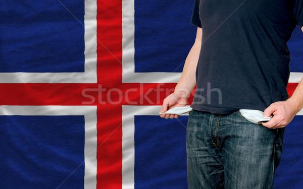Recesión joven sociedad Islandia pobres hombre Foto stock © vepar5