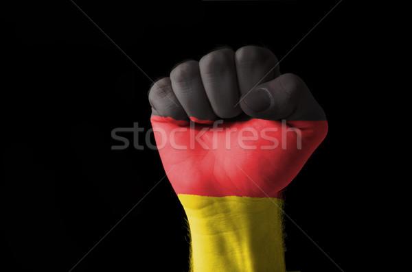 Puno pintado colores Alemania bandera bajo Foto stock © vepar5