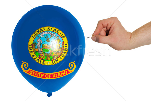Bursting balloon colored in  flag of american state of idaho    Stock photo © vepar5