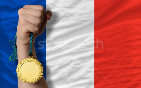 金メダル スポーツ フラグ フランス 勝者 ストックフォト © vepar5