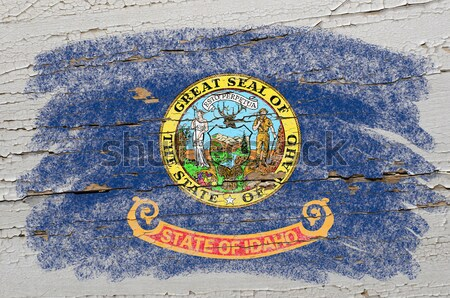 flag of US state of missouri on grunge wooden texture precise pa Stock photo © vepar5