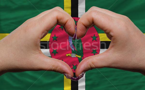 флаг Доминика сердце любви жест ума Сток-фото © vepar5