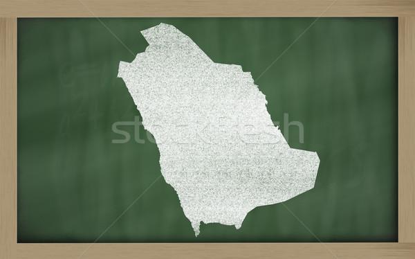 Pokaż Arabia Saudyjska tablicy rysunek Zdjęcia stock © vepar5