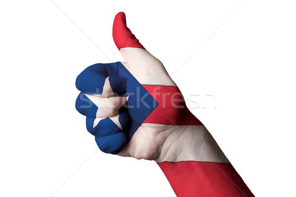 Puerto Rico bandiera pollice up gesto eccellenza Foto d'archivio © vepar5