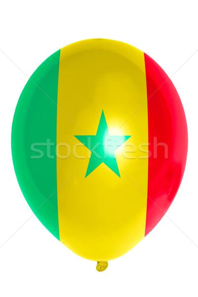 Léggömb színes zászló Szenegál boldog utazás Stock fotó © vepar5