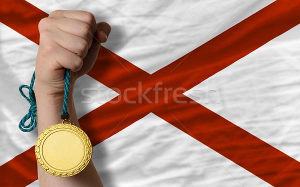 Altın madalya spor bayrak amerikan Alabama kazanan Stok fotoğraf © vepar5
