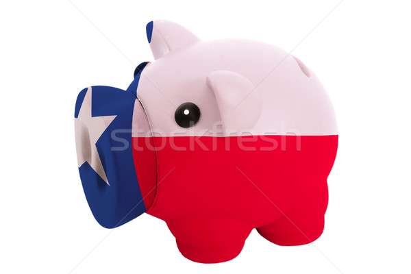 piggy rich bank in colors  flag of american state of texas    fo Stock photo © vepar5