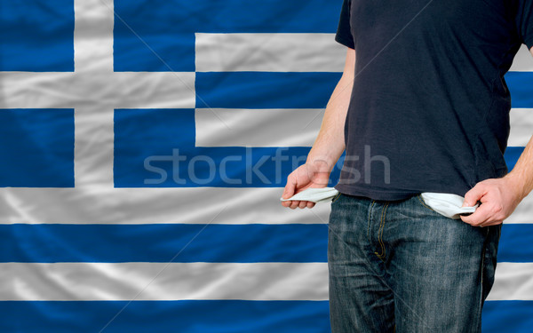 recession impact on young man and society in greece Stock photo © vepar5