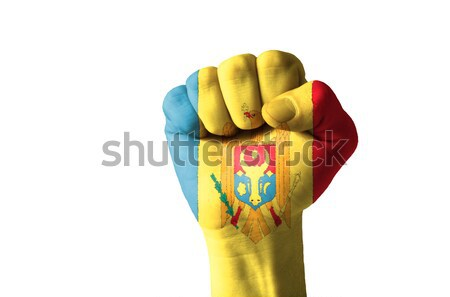 Pięść malowany kolory Wietnam banderą niski Zdjęcia stock © vepar5