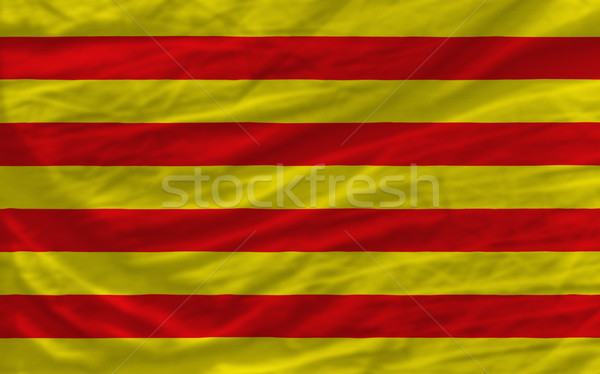 complete waved national flag of  of catalonia for background   Stock photo © vepar5