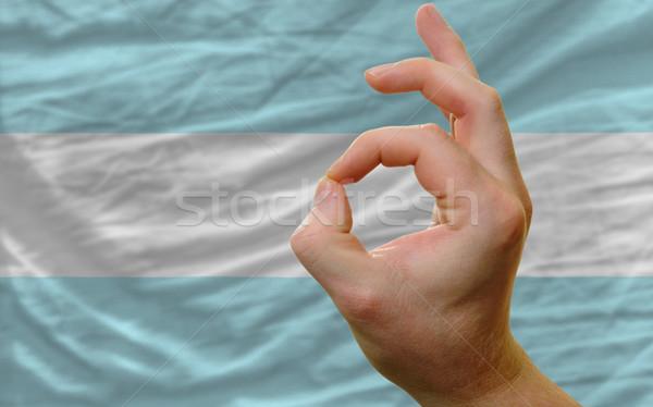 Gesto Argentina bandeira homem Foto stock © vepar5