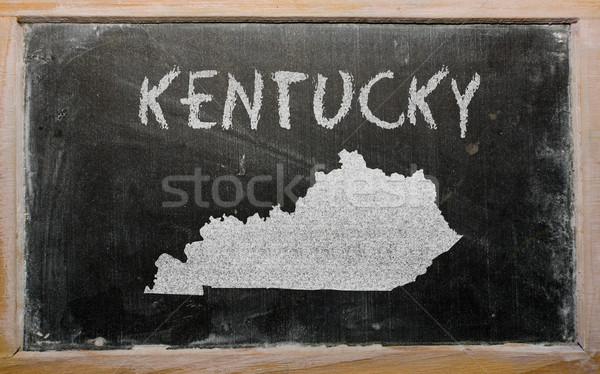 Harita Kentucky tahta çizim amerikan Stok fotoğraf © vepar5