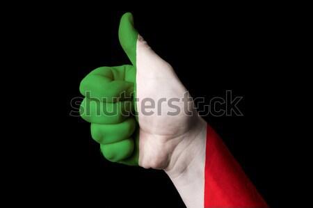 Берег Слоновой Кости флаг большой палец руки вверх жест превосходство Сток-фото © vepar5