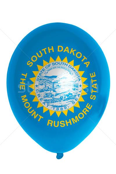 Balon renkli bayrak Güney Dakota mutlu seyahat Stok fotoğraf © vepar5