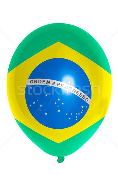 Balon kolorowy banderą Brazylia szczęśliwy tle Zdjęcia stock © vepar5