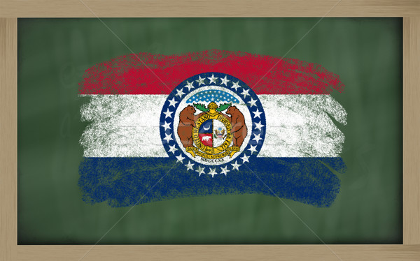 flag of us state of missouri on blackboard painted with chalk Stock photo © vepar5