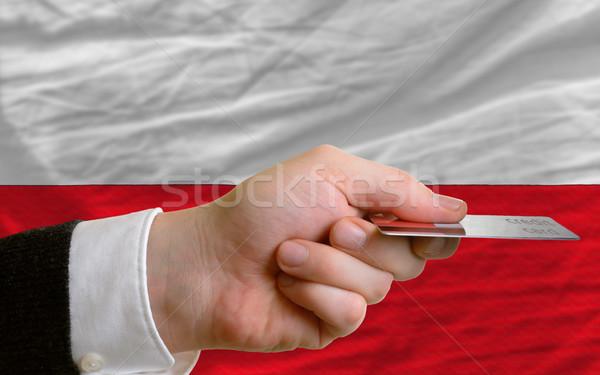 Achat carte de crédit Pologne homme sur Photo stock © vepar5
