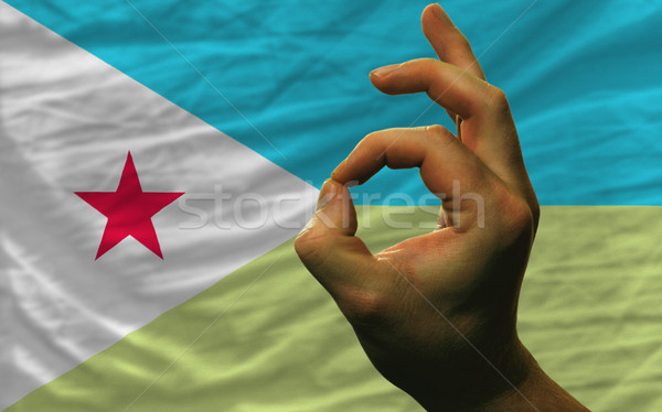 ok gesture in front of djibouti national flag Stock photo © vepar5