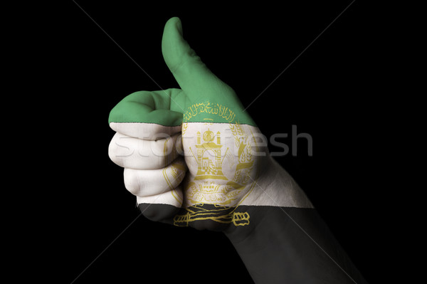 afghanistan national flag thumb up gesture for excellence and ac Stock photo © vepar5
