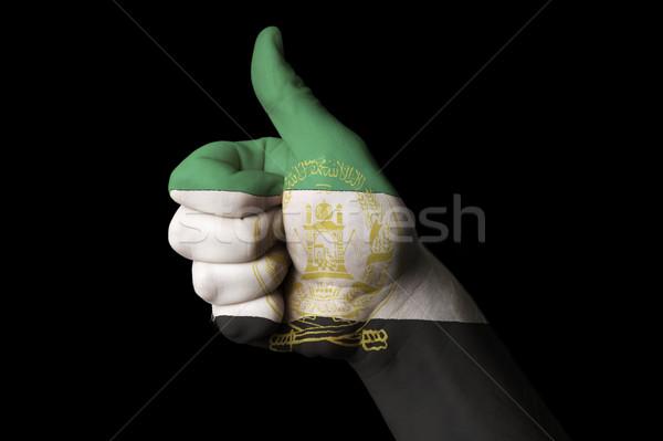 Afghanistan bandiera pollice up gesto eccellenza Foto d'archivio © vepar5