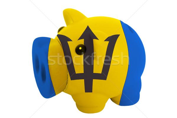Rico banco cores bandeira Barbados Foto stock © vepar5