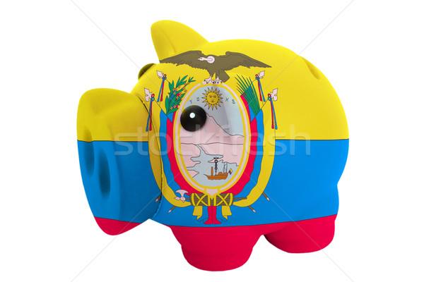 Ricos banco colores bandera Ecuador Foto stock © vepar5