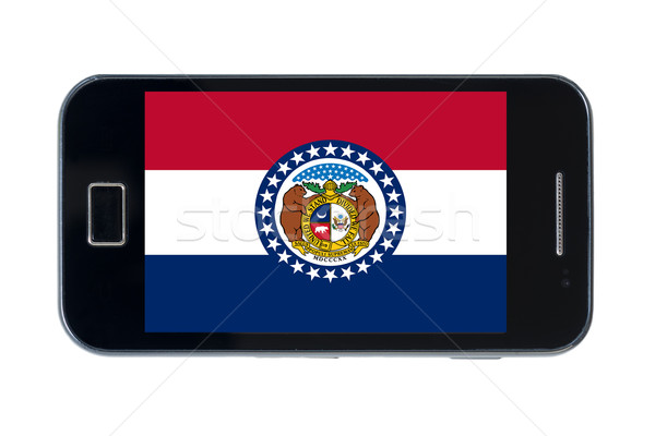 Okostelefon zászló amerikai Missouri telefon telefon Stock fotó © vepar5
