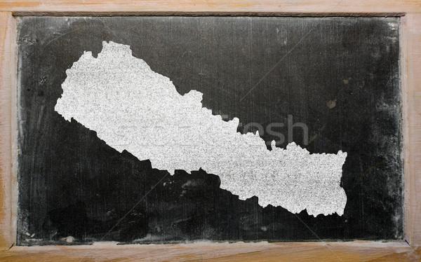 карта Непал доске рисунок Сток-фото © vepar5