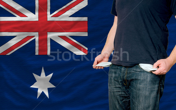 recession impact on young man and society in australia Stock photo © vepar5