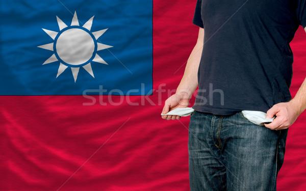Recesszió fiatalember társadalom Tajvan szegény férfi Stock fotó © vepar5