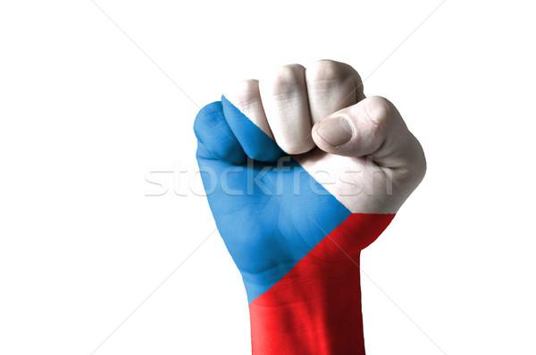Puno pintado colores checo bandera bajo Foto stock © vepar5