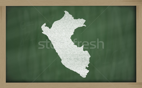 Schets kaart Peru Blackboard tekening Stockfoto © vepar5
