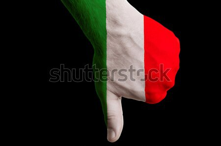 italy national flag thumbs down gesture for failure made with ha Stock photo © vepar5