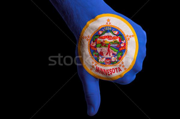 Minnesota bayrak başparmak aşağı jest başarısızlık Stok fotoğraf © vepar5