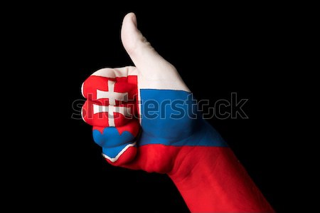 norway national flag thumb down gesture for failure made with ha Stock photo © vepar5