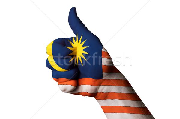 Malaysia bandiera pollice up gesto eccellenza Foto d'archivio © vepar5