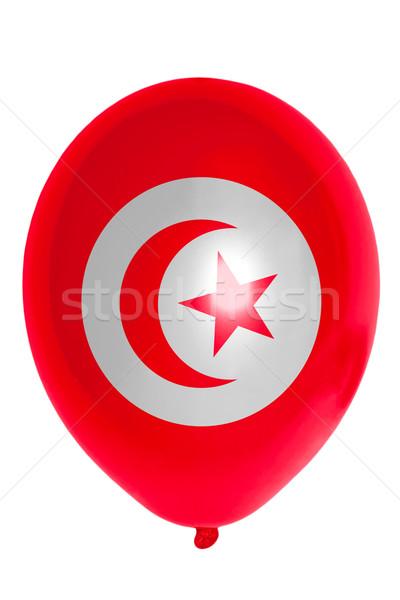 Balão bandeira Tunísia feliz viajar Foto stock © vepar5