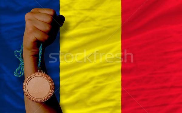 Bronce medalla deporte bandera Chad Foto stock © vepar5
