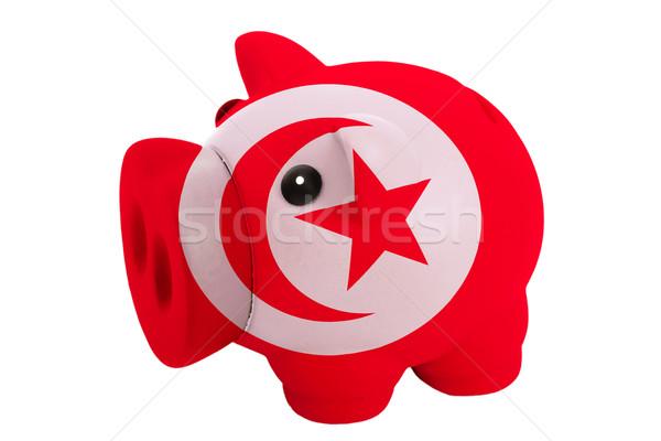 Zengin banka renkler bayrak Tunus Stok fotoğraf © vepar5