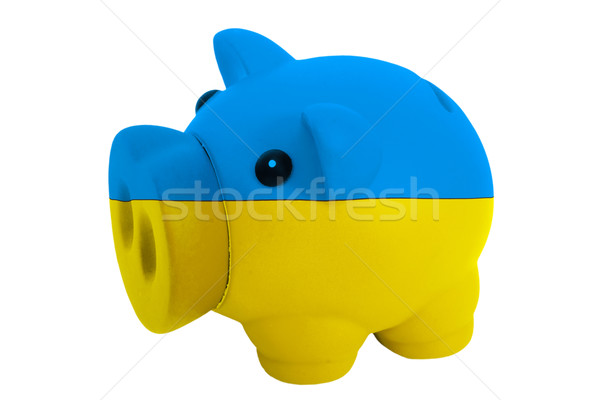 piggy rich bank in colors  national flag of ukraine    for savin Stock photo © vepar5
